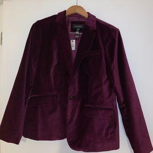 Talbolts velvet blazer purple size 10